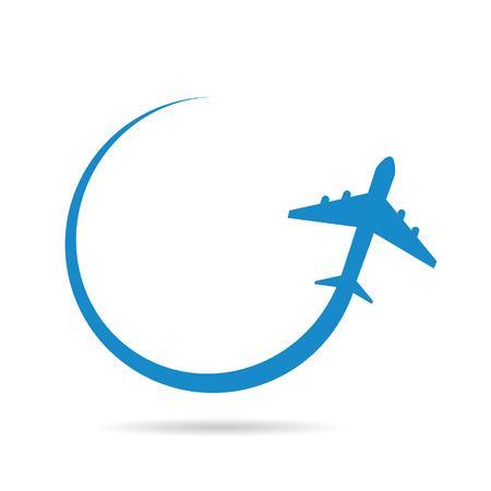 airplane blue vector illustration