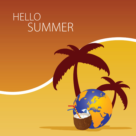 hallo: hallo summer color vector Illustration