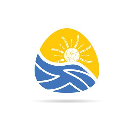 suntan cream: holiday icon color vector Illustration