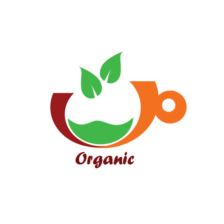 organic icon color vector  イラスト・ベクター素材