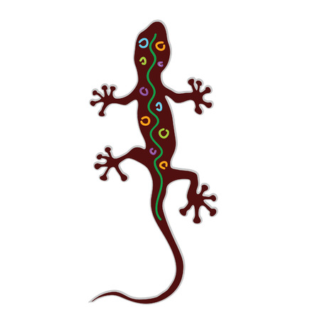 salamandre: salamander color vector illuastration
