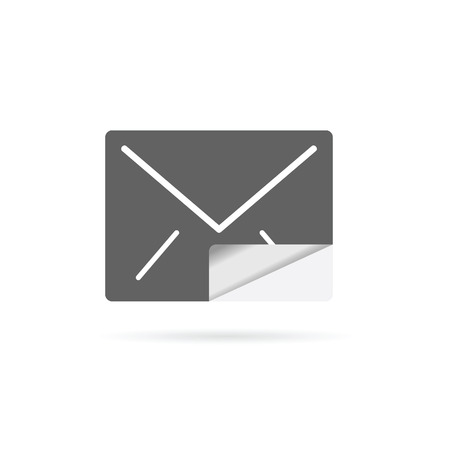 outage: letter envelope vector illustration on white