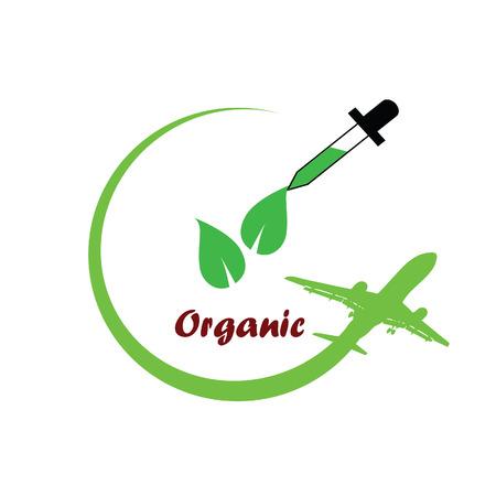 organische pictogram groene vector illustratie