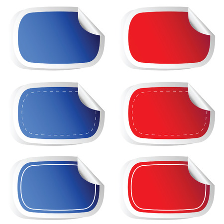 sticker blue and red vector illustration