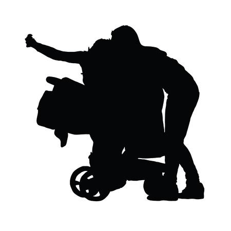 black family: family vector black silhouette