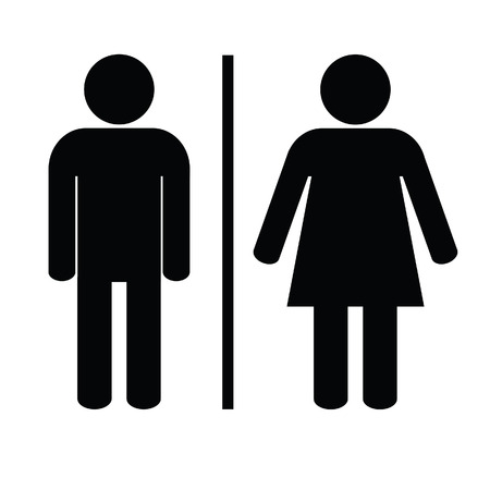 man and woman icon black vector