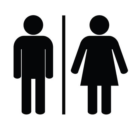 man en vrouw pictogram zwarte vector