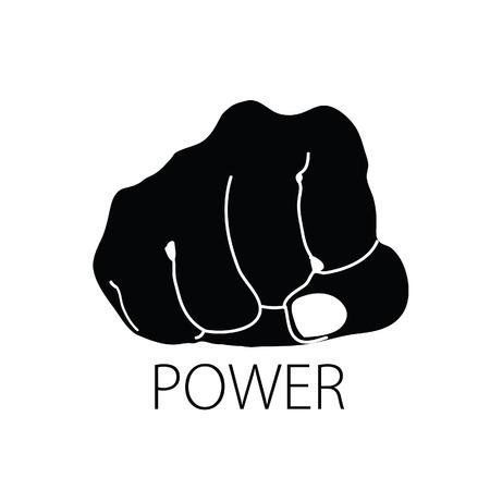 power icon black vector silhouette Vector