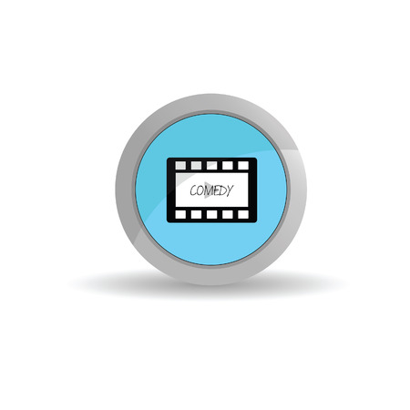 film tape: sticker film tape comedy art vector