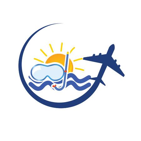 travel icon: reizen pictogram kleur vector illustratie