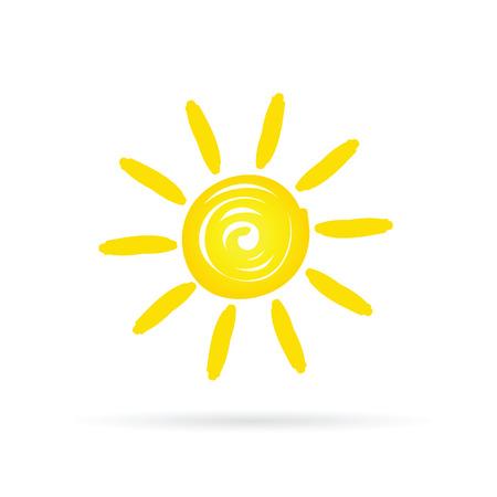sun shine yellow vector  イラスト・ベクター素材