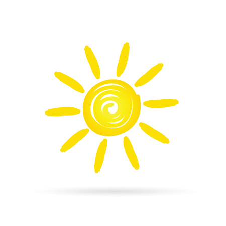 sun shine yellow vector Ilustração