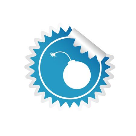 sticker of bomb blue vector illustration Vector