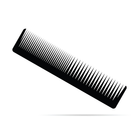 haircutting: comb black art vector Illustration