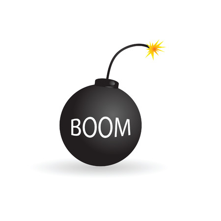 bombshell: bomb color vector illustration