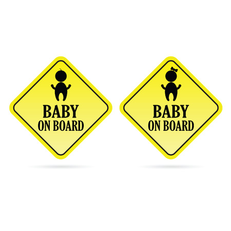 bebe a bordo: beb� a bordo de los ni�os vector amarillo
