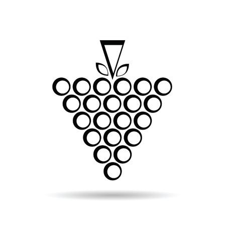 black grape: grape black art vector illustration