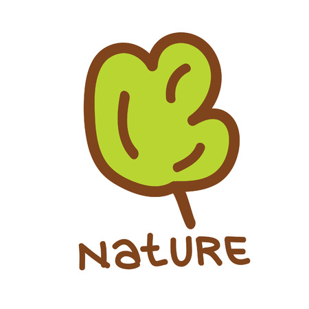 nature  plant: nature plant green vector on white background
