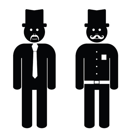 business group: man cartoon black and white art