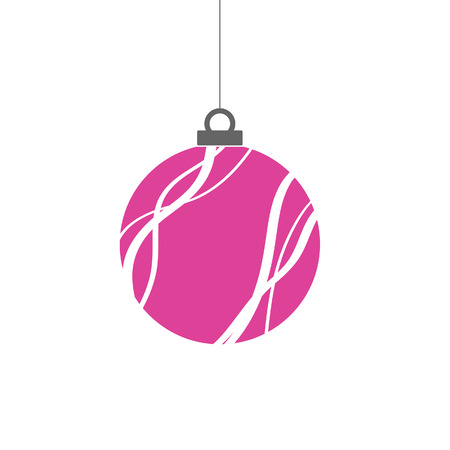 christmas ball pink  in clorful