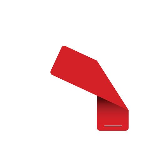 tag label red vector illustration