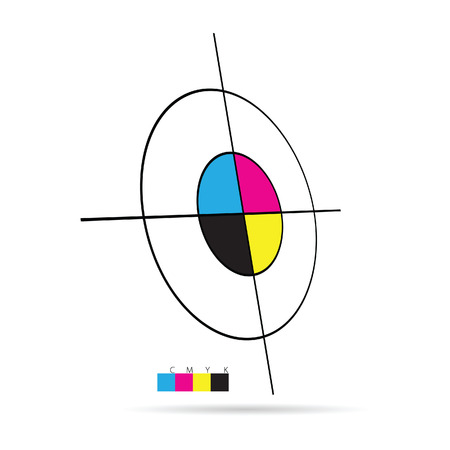 cmyk color vector target illustration 免版税图像 - 43124399