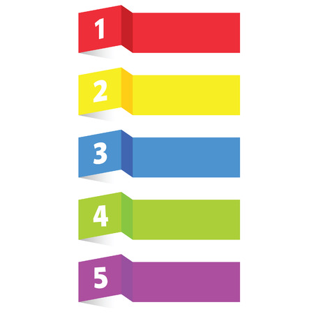 tag label paper color vector illustration  イラスト・ベクター素材