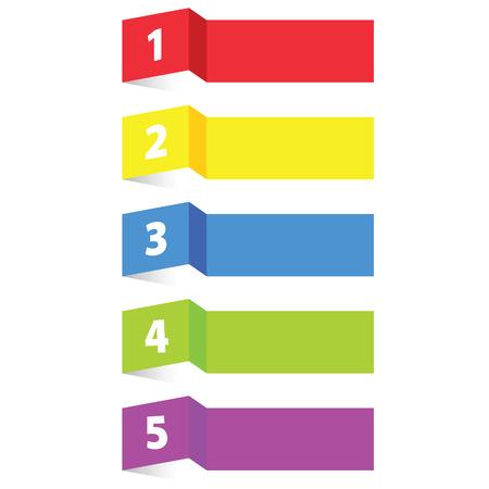 label label papier kleur vectorillustratie