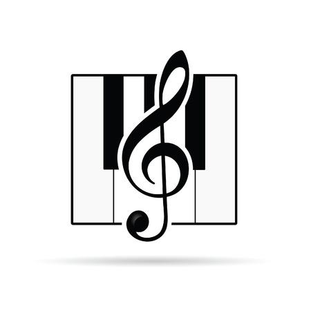 chiave di violino: violino icona della chiave vettore silhouette