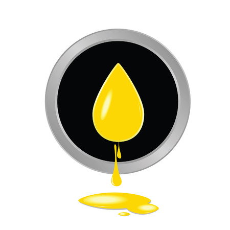 canola: oil yellow button vector illustration Illustration