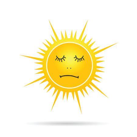 yellow vector: sun sleep yellow vector illustration