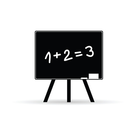 numerical value: school board with numbers black vector Illustration