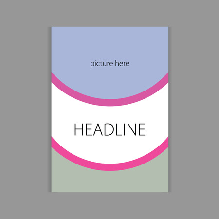 headline: design headline cover book vector illustration