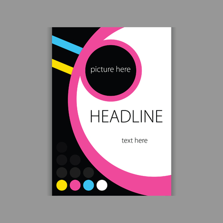 headline: design headline cover beauty vector in color Illustration