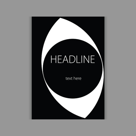 headline: design headline cover black vector illustration