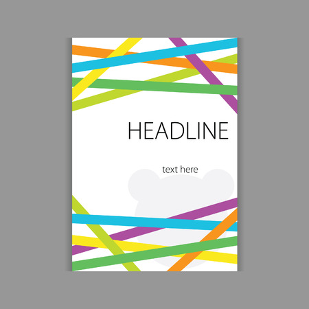 headline: design headline cover vector in colorful Illustration
