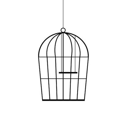 birdcage: birdcage black vector illustration Illustration