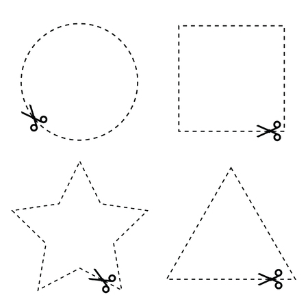 blank button: sticker of circle and triangle vector illustration