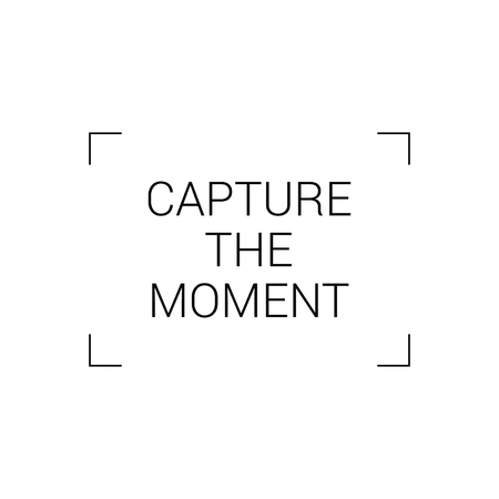 capture: capture the moment sign vector