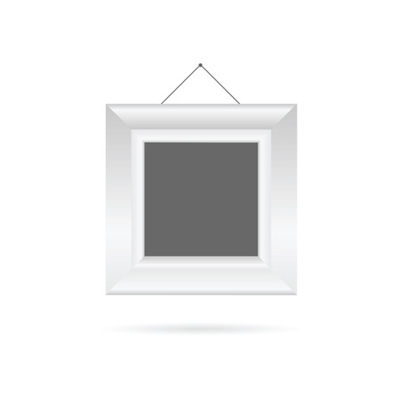 white color: picture frame in white color vector illustration