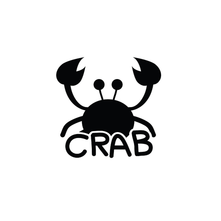 crab animal vector silhouette illustration