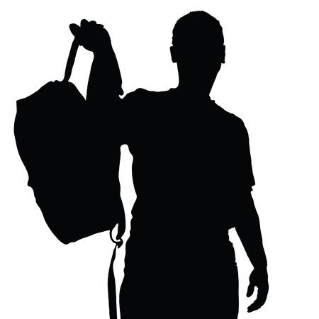 team sports: hombre silueta del vector recreación vector en un blanco