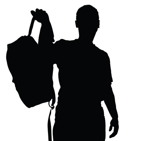sports team: man vector silhouette recreation vector on a white