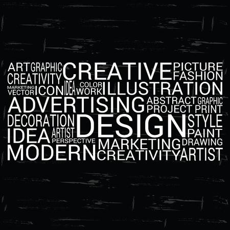 brainy: design background on brick wall creative vector Illustration