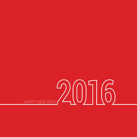 happy new year 2016 color red vector