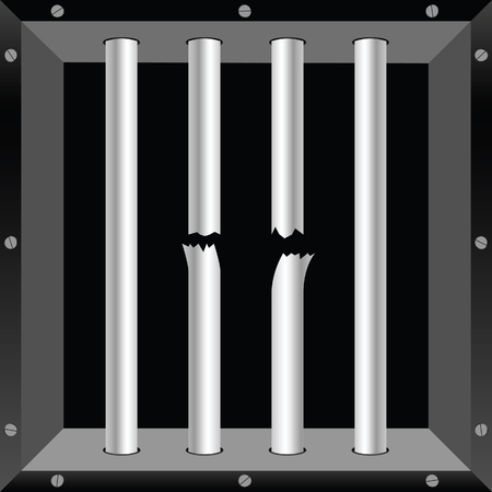 security council: prison bars metal crime illustration