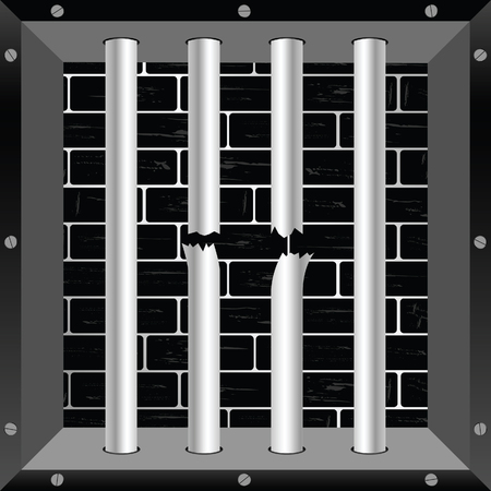 lockup: prison bars cell freedom illustration