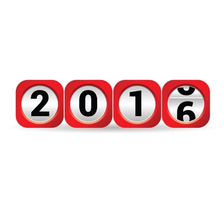 counter 2016 red vector illustration Illustration