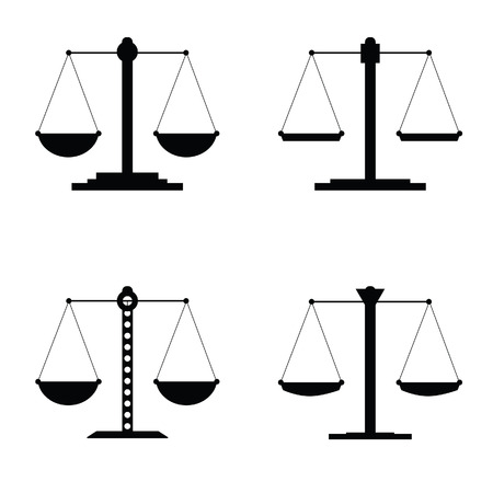 lawsuit: justice icon vector illustration in black Illustration