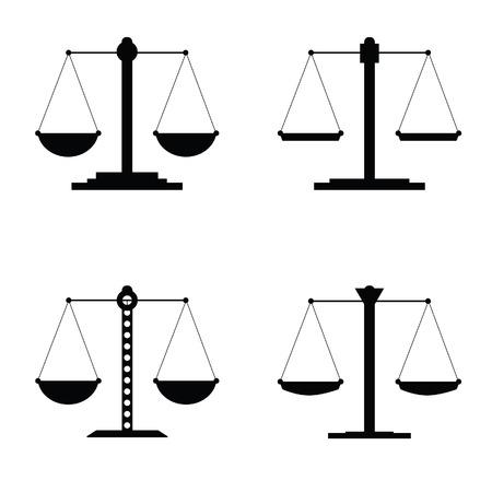judgments: justice icon vector illustration in black Illustration